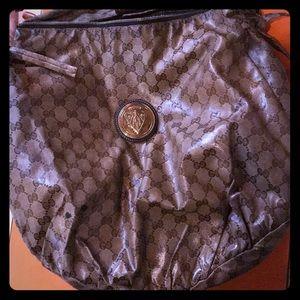 💯Auth Gucci Beige Crystal Hysteria bag MM